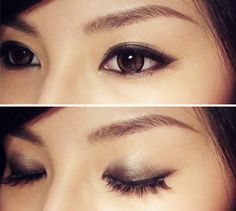 simple smokey for asian eyes - more emphasis on inner eyelids