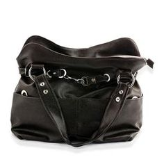 S/S 2013 NEW ARRIVAL Dark Brown Hand Bag in Silvertone