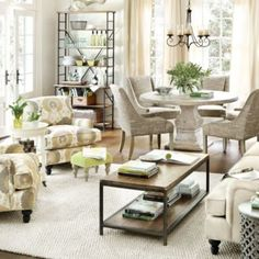 Ethan Living Room... like the furniture layout!