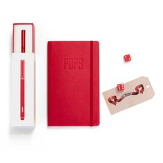 Tell POPS he's the tops with this Limited Edition Notebook + Metal Pen Set #fathersday #red #workhappy