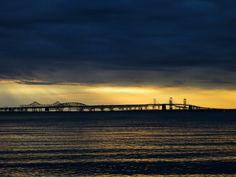 Bay Bridge on the Chesapeake Bay - Maryland
