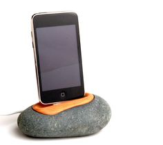 iPhone dock iPod dock stand charger station made of rock - The iRock Dock - FREE PRIORITY SHIPPING