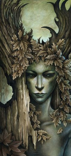 ☆ Beautiful Detail Art :¦: By Artist Marc Potts ☆ Druid Priestess