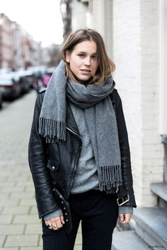 leather jacket fashion, biker jackets, black outfits, style, black leather, silver hair, camels, leather jackets, scarv