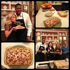 On #KellyandMichael, Michael Strahan made his Sweet Potato Casserole with Marshmallows.  Check out the recipe here: http://dadt.com/live/recipe-finder.html?recipeID=15387