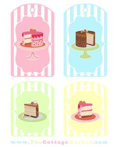 Free Printable Cake Gift Tags