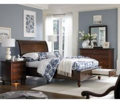 Aspen Home Spruce Bay  Piece Sleigh Storage Bedroom Set Aspen Home