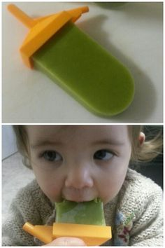 Made healthy popsicles! Spinach, almond milk, banana, mango and pineapple. Puree and freeze.