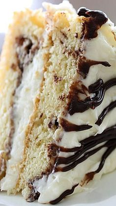 Coconut Nutella Fudge Cake. So many delicious flavors wrapped up into the moist and beautiful cake...