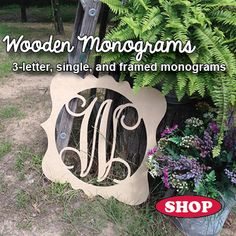 Wooden Monogram and Other MDF Shapes