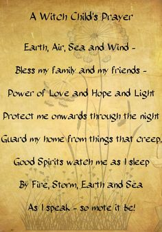 Witches Childs Prayer by ~minimissmelissa on deviantART