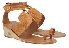 Ancient Greek Sandals | Klytemnestra Wedge | NewSite - WOMAN