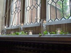 stunning candles decorate the Great Hall
