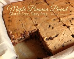 Maple Banana Bread - Gluten Free, Dairy Free