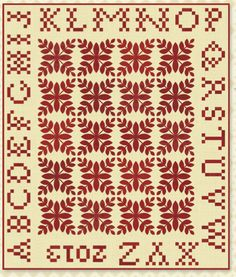"""""""A is For Apple"""" Quilt Pattern by Minick and Simpson"""