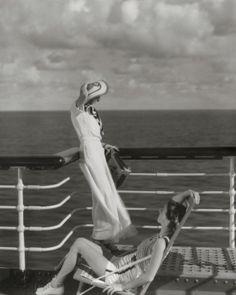 Enjoying the ocean views, 1934.
