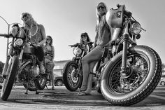 Girls on bikes.