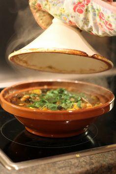 Vegetable tagine recipe, butternut squash, chickpeas, aubergine