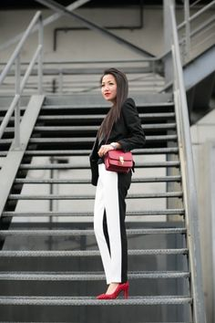 Great Lines :: Two-tone trousers