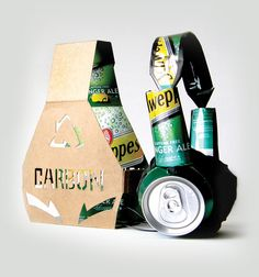Packaging and headphones made out of recycled soda cans. way cool #ecomonday #packaging PD