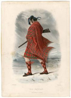 "Clans of the Scottish Highlands 1847 Plates 1-54, Plate 041, 1841. Fashion plates, 1700-1955. The Costume Institute Fashion Plates. The Metropolitan Museum of Art, New York (b17520939) | From the ""Mac Nachtan"" clan. #fashion"
