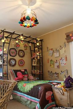 Garden trellis Diy Home Decor, Holiday Ideas, Beds Canopies, Garden Trellis, Gardens Trellis, Wood Shelves, Bed Canopies, Girls Rooms, Kids Rooms