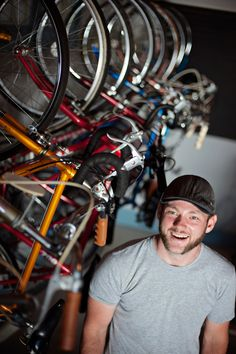 Barber Shop Kalamazoo : KzooSwift Ryan Barber works outside his Bike Shop off Westnedge ...