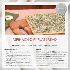 """Spinach Dip"" Flatbread #recipe"