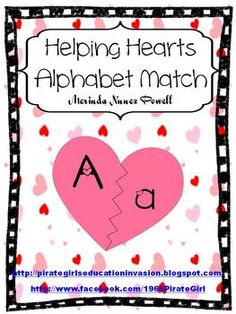 Helping Hearts Alphabet Match