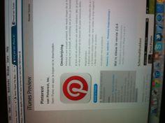 Screenshot Pinterest voor iOS
