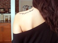 love the placement and the typography of this tat.