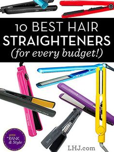 The Best Hair Straighteners for Every Budget - Is that pricey hair straightener really worth it? Will the drugstore one work just as well? No matter what your budget is, we've got the top 10 hair straighteners your hard-earned cash can buy.