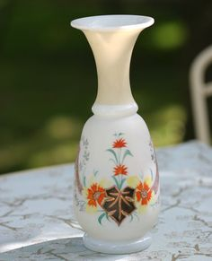 Bristol Vase Victorian Satin Glass by AppleberryCottage on Etsy