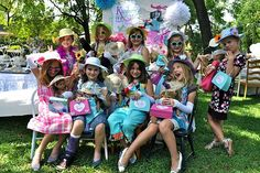 Tea Party Theme - Cute tea-party hats for the girls and their dolls