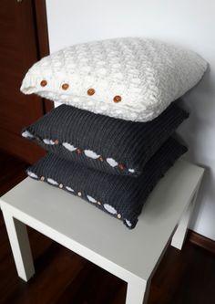 Вязание спицами подушек для дивана