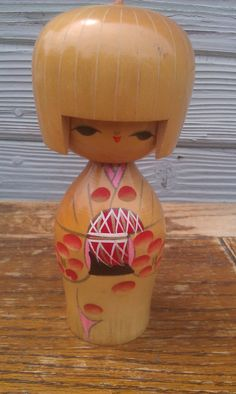 Vintage Japanese KoKeshi Doll  Wooden Doll.