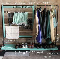 clothes storage, clothing racks, laundry rooms, diy clothing, small spaces, coat racks, closet space, diy clothes, shoe racks