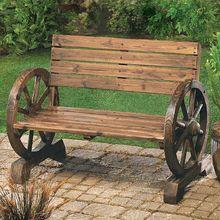 Rustic Stagecoach Garden Bench....