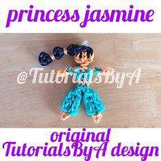 Original TutorialsByA Rainbow Loom Princess Jasmine Figurine