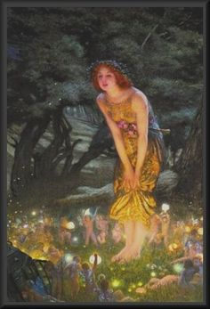 Midsummer Eve by Edward Robert Hughes (1851-1914).  Used to have this hanging in my room when I was younger.