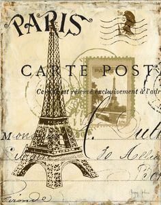 Vintage Paris Print #vintage #Paris #print #postcard