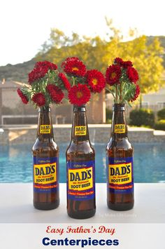 GREAT IDEA! Easy Father's Day Bouquet Centerpieces