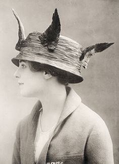 Hat by Lanvin, Paris - Underwood and Underwood Photographic Collection (University of Kentucky)