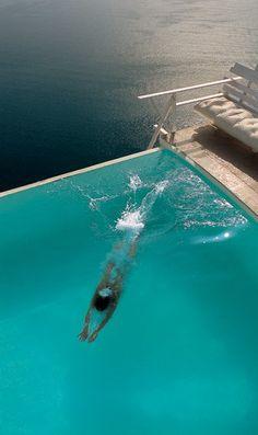 hotel santorini, books, favorit place, swimming pools, dream pools
