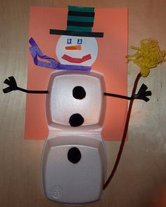 snowman from plastic takeout container http://vistatubes.com/