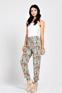 Paisley Floral Jogger Pants Summer Fashion Women's Women Clothing Boutique