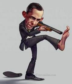 obama shooting himse