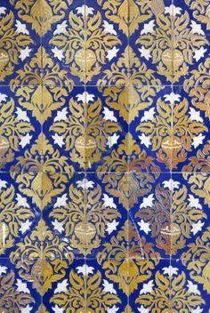 Ceramic wall tiles on Plaza de Espana in Seville.