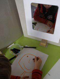 Provide mirrors for self-portraits