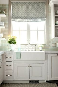 Love the backsplash tile - whole kitchen really!